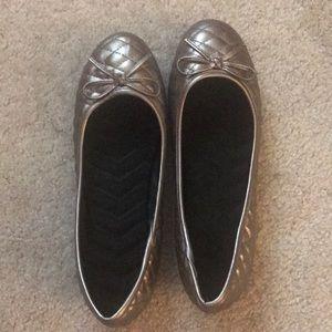 Shoes - Silver Ballet Flats